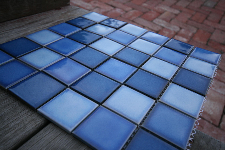 bancoora48 • ceramic pool tile • size 48mm²• sheet size 300mm² ...